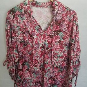 Women's 1970s Poly Blouse